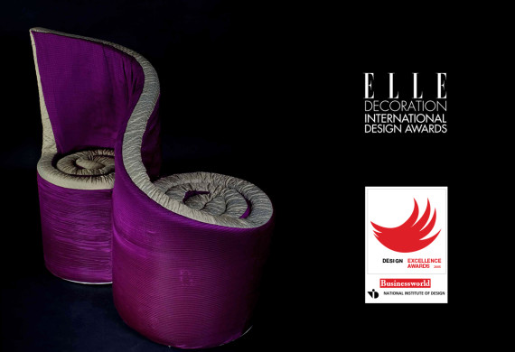 Best Furniture Design – Elle Deco international design awards 2005<br>Finalist – Best Furniture Design BusinessWorld – NID design excellence awards 2005