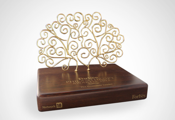 <h2>Forbes Philanthrophy Award Trophy<h2>