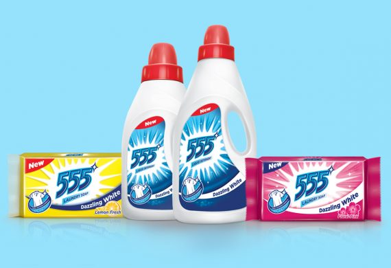 <h2>555 Detergent Packaging Identity <h2>